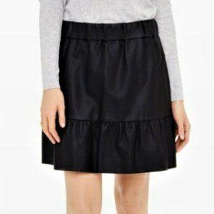 Club Monaco Delani Vegan Leather Mini Skirt Black